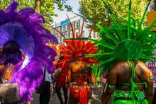 Women Wearing Traditional Samba Outfits At Notting Hill Carnival 2019
