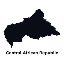 Map Of Central African Republic, Africa, Isolated On White - Vector