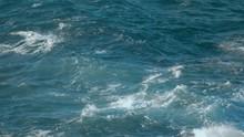 Big Waves Rolling Crashing Coast Blue Turquoise Gale, Breaking Tide, Whitewash.  Sunny Day Over The Sea.  Huge Swell Hitting Shoreline.  Powerful Waves Atlantic Ocean Shot URSA 4.6K