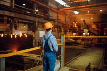 Master Looks On Steelmaking Pr...