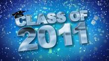 Class Of 2011 Confetti Blue HD