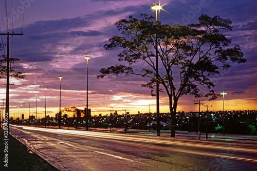Fotografie, Obraz Avenida Afonso Pena em Campo Grande, Mato Grosso do Sul, Brasil