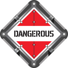 The Sign Is Dangerous. Marking Of Transport And Transported Goods With Signs For The Transport Of Dangerous Goods.
