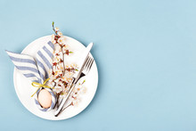 Easter Table Setting With Egg ...