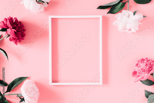 Photo Beautiful flowers composition of peonies