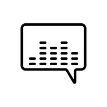 Equalizer, Message Icon Vector...