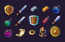 Set Of Vector Icons, Objects, ...