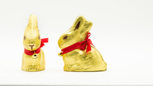 Two Easter Gold Chocolate Bunn...