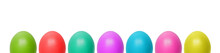 Colorful Easter Eggs  Set Isol...
