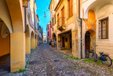Fototapeta Uliczki - Narrow street in Padua (Padova), Veneto, Italy