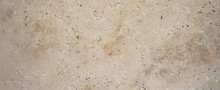 Beige Brown Natural Stone Texture Background Banner Panorama