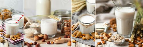 Photo Fresh organic vegan almond milk