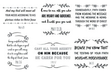Set Of Calligraphy Sayings For...