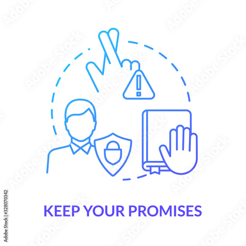 Keep your promises concept icon Wallpaper Mural