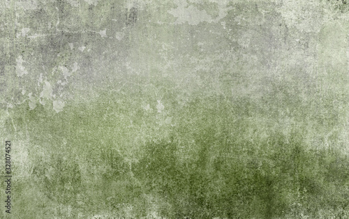 Fototapeta Old distressed green grungy wall background obraz