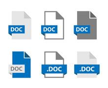 DOC Files Document Icon Set, D...