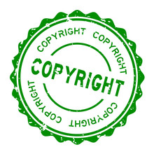 Grunge Green Copyright Word Ro...