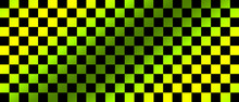 Green And Black Checkered Flag For Racing Background And Texture.