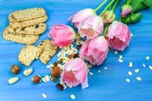Oatmeal Cookies. Festive Flowe...