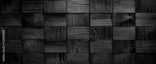 Fototapeta drewno  black-anthracite-wooden-rectangular-texture-background-banner-panorama