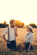 Retro / Vintage Couple In Summer Sunset