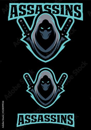 Assassin Team Mascot Canvas Print