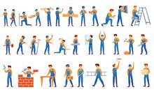 Repairman Icons Set. Cartoon Set Of Repairman Vector Icons For Web Design
