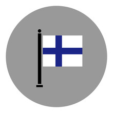 National Flag Of Finland Theme...