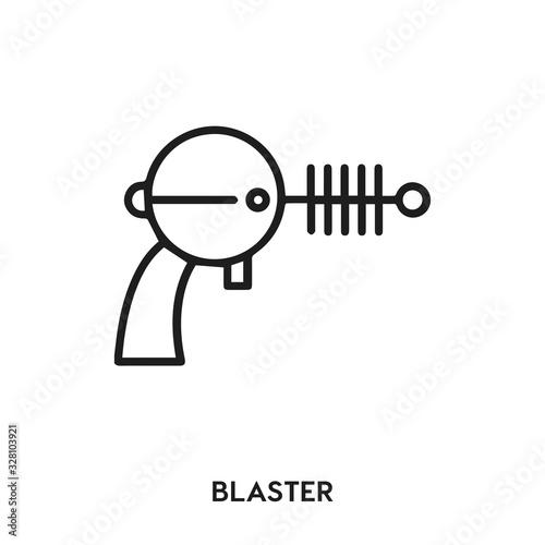 blaster vector line icon Wallpaper Mural