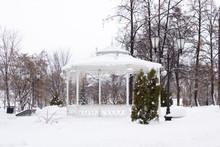 Vintage Gazebo In The Winter P...