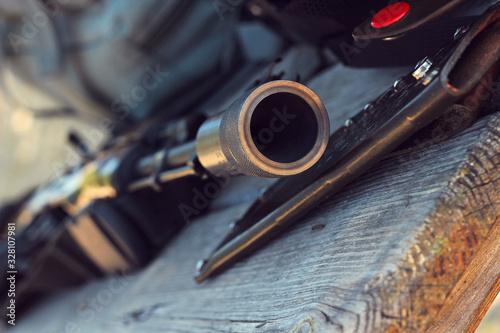 Russian assault rifle AK-74 Canvas Print