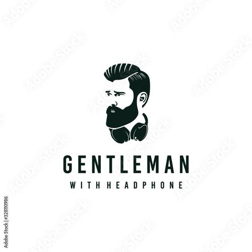 Fototapeta Gentleman logo design