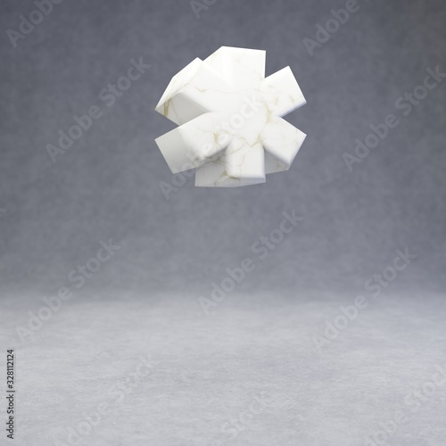 White marble asterisk symbol on concrete background Wallpaper Mural