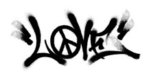 Sprayed Love Font Graffiti Wit...