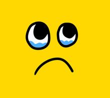 Cartoon Stylized Emoticon Face...