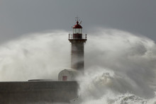 Old Lighthouse Surrounded By W...