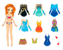 Paper Doll With Clothes For Artistic Gymnastics