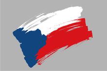 Flag Of Czech Republic. Czechi...