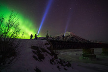 Painting Light With The Northern Lights In Alaska