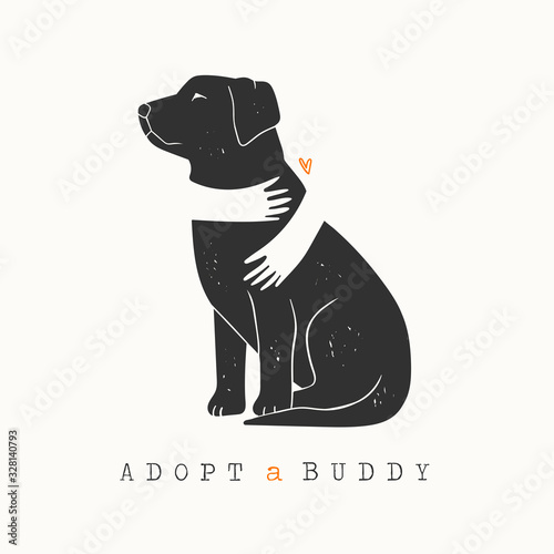 Photo adopt, adoption, animal, art, banner, black, care, cartoon, cat, character, coll