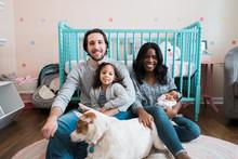 Happy Family Portrait With New...