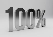 One Hundred Percent On White B...