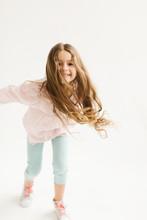 Little Cute Girl With Dark Lon...