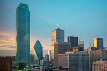 Sunlight Breaks Through The Clouds In Dallas, Texas