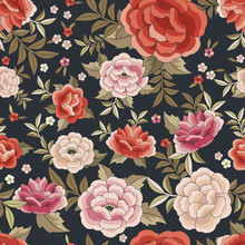 Seamless Floral Pattern Based ...