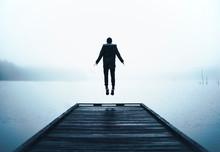 Man Jumping In Air Levitating ...