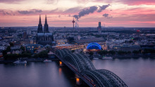 Koln Germany City Skyline, Col...
