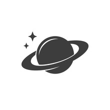 Vector Icon Planet Saturn