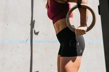 Close Up Female Athlete Doing ...