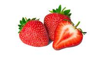 Isolated Strawberries. Fresh F...